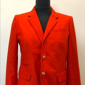 J. Crew Schoolboy Blazer in bright orange